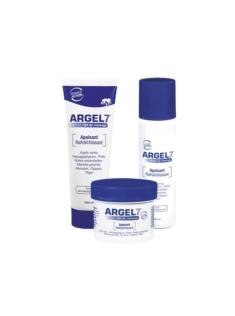 Argel 7 en tube, spray et gel - 125 ml - lot de 3