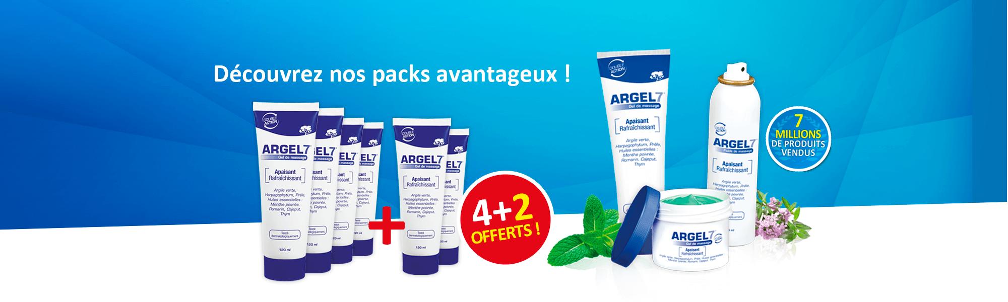 Packs avantageux  de produits massage Argel 7
